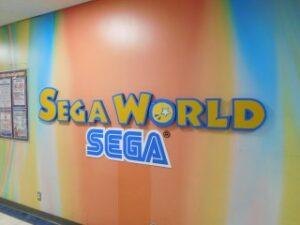 ゲームセンター店舗入口への商標登録表示